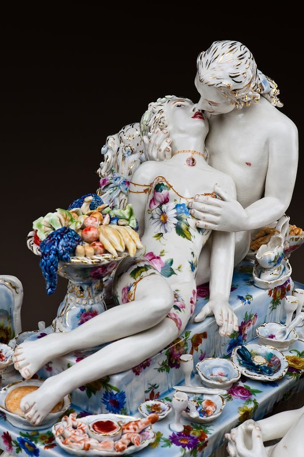 Chris Antemann. American, 1970- Feast of Impropriety 2010 Porcelain Collection of Yvonne and Richard McCracken.