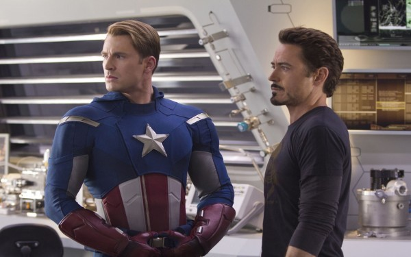 Chris Evans and Robert Downey Jr. (Photo: Disney & Marvel)