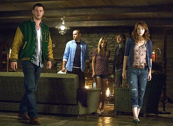 Chris Hemsworth, Jesse Williams, Anna Hutchison, Fran Kranz and Kristen Connolly in The Cabin in the Woods - LIONSGATE