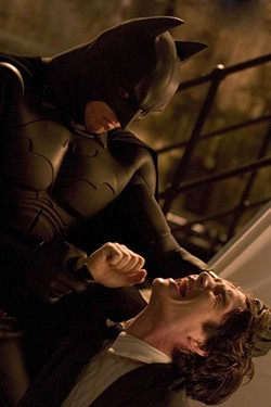 DAVID JAMES / WARNER BROS. - Christian Bale and Cillian Murphy in Batman Begins