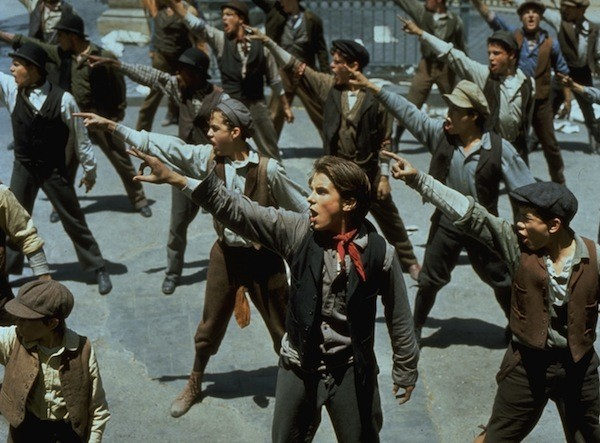 Christian Bale (center) in Newsies (Photo: Disney)