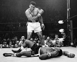 CLAY VS. LISTON Famous photograph included in - Flash! The Associated Press Covers The - World at Main Library