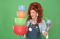 Competing for Tupperware© at <i>Dixie's Tupperware Party</i>
