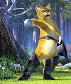 DREAMWORKS - COOL CAT Puss In Boots steals Shrek 2