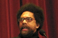 Cornel West talks to a packed house at Queens University