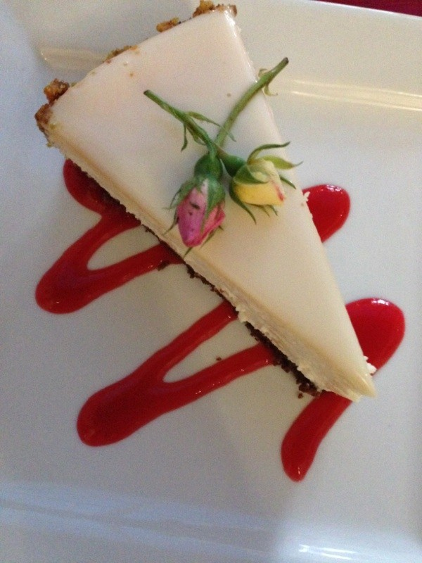Course 5: Rosewater cheesecake from Something Classics Megan Goldman