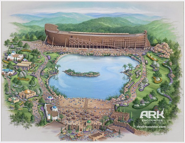 Creationist theme park, with Noahs Ark