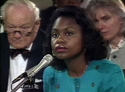 SAMUEL GOLDWYN FILMS - CULTURAL HERO: Vintage footage of Anita Hill at the committee hearings