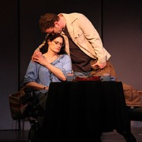 Cynthia Farbman Harris (Dr. Emma Bookner) and Tommy Foster (Ned Weeks) in The Normal Heart.