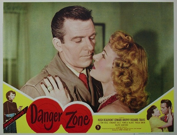 Dale starred as the female lead opposite Hugh Leave It To BeaverBeaumont in 1951s film Danger Zone.
