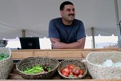 ENID VALU - Daryl Simpson of Walnut Ridge Farms at Matthews Community Farmers Market