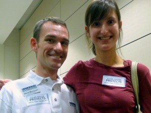 David Merryman, our Catawba Riverkeeper, and Katie Hicks, of NC Clean Water.