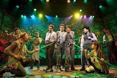 David Rossmer, Adam Chanler-Berat, Carson Elrod, and the cast of Peter and the Starcatcher.