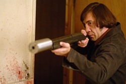 RICHARD FOREMAN / MIRAMAX FILMS - DEAD SET ON VICTORY: No Country for Old Men, starring Javier Bardem, aims to take home a handful of Oscars.