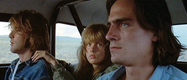 Dennis Wilson, Laurie Bird and James Taylor in Two-Lane Blacktop (Photo: Criterion Collection)