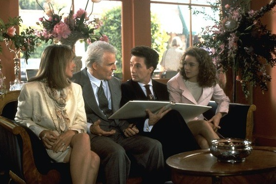 Diane Keaton, Steve Martin, Martin Short and Kimberly Williams in Father of the Bride (Photo: Disney)