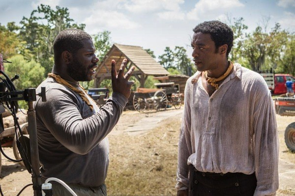 Director Steve McQueen and actor Chiwetel Ejiofor on the set of 12 Years a Slave. (Photo: Fox Searchlight)
