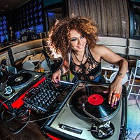 DJ Yasmin Young. (Shout-out to Bubble for letting us into their fantastic space for this photo.)
