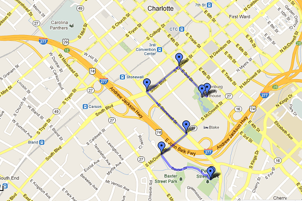 DNC protest parade route