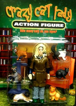 WWW.ACCOUTREMENTS.COM - DOES THIS REMIND YOU OF ANYONE YOU KNOW? The crazy cat lady action figure.