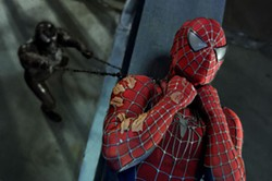 COLUMBIA - DOUBLE TROUBLE Spider-Man (Tobey Maguire) is up to his neck in villainy, thanks to the emergence of Venom (Topher Grace) ...