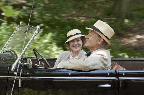 DRIVING MISS DAISY: Franklin Roosevelt (Bill Murray) prepares to ask Daisy (Laura Linney) for a special favor in Hyde Park on Hudson. (Photo: Focus Features)