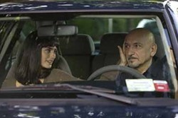 JOE LEDERER / SAMUEL GOLDWYN FILMS - DRIVING THEIR RELATIONSHIP: Consuela (Penelope Cruz) reaches out to David (Ben Kingsley) in Elegy.