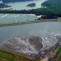 Duke Energy's two unlined, high-hazard coal ash ponds on Mountain Island Lake (aka our drinking water).