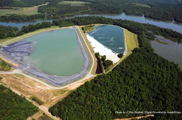 Duke Energys two unlined, high-hazard coal ash ponds on Mountain Island Lake (aka our drinking water)