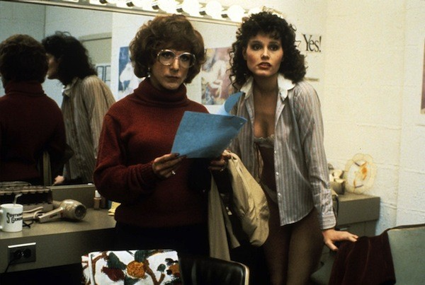 Dustin Hoffman and Geena Davis (in her film debut) in Tootsie (Photo: Criterion Collection)