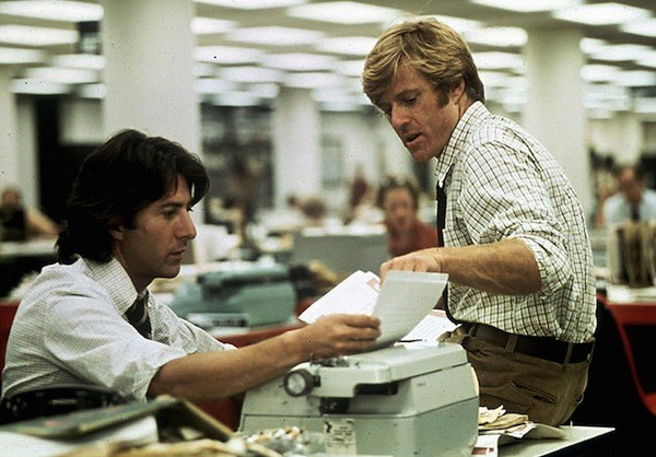 Dustin Hoffman and Robert Redford in All the President's Men (Photo: Warner Bros.)