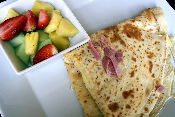 Egg, Cheese, and Turkey Bacon Crepe