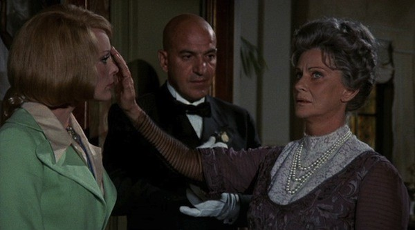 Elke Sommer, Telly Savalas and Alida Valli in Lisa and the Devil (Photo: Kino Lorber)
