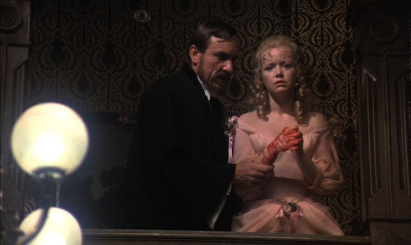 Eric Porter and Angharad Rees in Hands of the Ripper (Photo: Synapse Films & DVDBeaver)