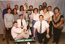 FAMILY AFFAIR: Early staff members of Creative Loafing, including current publisher Carolyn Butler (far left) and founder Deborah Eason (far right)