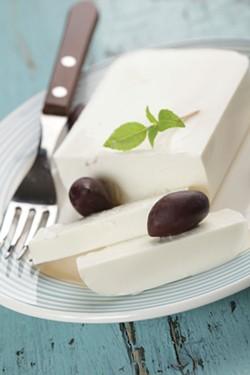 Feta cheese and kalamata olives
