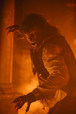 FRANK CONNOR / UNIVERSAL PICTURES - FIGHTING FIRE WITH FUR: Benicio Del Toro in The Wolfman.