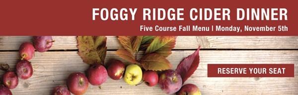 Foggy Ridge Cider Dinner