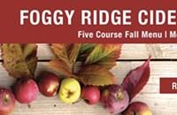 Upcoming Event: Foggy Ridge Cider Dinner