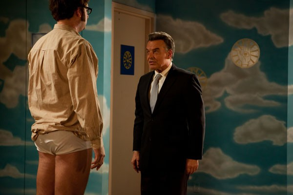 FOUL PLAY: Dr. Doone Struts (Ray Wise, right) prepares Eric Wareheim for his diarrhea bath in Tim & Eric's Billion Dollar Movie. - MAGNET RELEASING