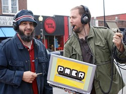 FOUNDING FATHERS: Scott Slagle and Jason Michel of Plaza Midwood Community Radio
