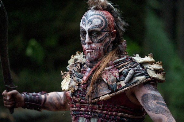 FOUR BEHEADINGS AND A FUNERAL: Hugh Grant as the brutal Kona Chief (Photo: Warner Bros.)