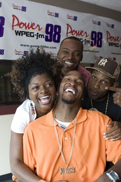 FOUR-PLAY: The Morning Maddhouse crew (clockwise) – Church Boy, Tone X, No Limit Larry and J.D. - ANGUS LAMOND
