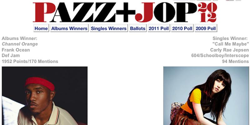 Frank Ocean tops Village Voice Pazz & Jop poll