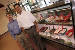 CATALINA KULCZAR - From left to right, the owners of Gleiberman's Deli and Grille, Kosher Mart & Restaurant, brothers Jeff and Robert Gleiberman