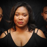 (from left to right) Travis Thompson, Kenya Phifer-Jones, Jonathan Caldwell in Blood Ties