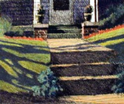FRONT PORCH Robert Marsh's etching is included in - Hodges Taylor Gallery's holiday exhibit Fine Art Gift - Ideas Under $500