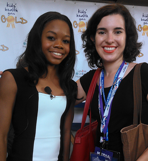 Gabrielle Douglas and me at the Kids Health Goes Gold
