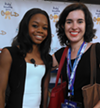 Gabrielle Douglas and me at the Kids' Health Goes Gold