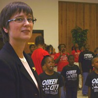 GANGBUSTERS: Rev. Fran Cook at a recent presentation about gangs in Charlotte at Little Rock A.M.E. Zion Church
